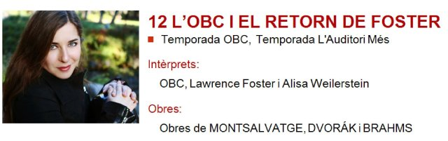 La OBC y el retorno de Foster a L'Auditori