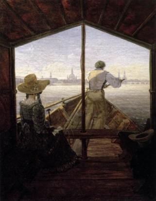 Una góndola en el Elba cerca de Dresde (Carl Gustav Carus)