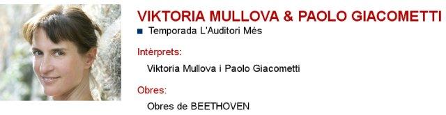 Viktoria Mullova & Paolo Giacometti en L'Auditori