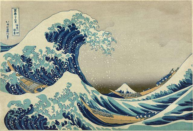 La gran ola de Kanagawa (Hokusai)