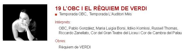 La OBC y el Requiem de Verdi en L'Auditori
