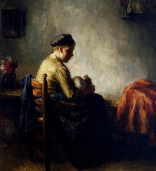 Bernard de Hoog - Acunando al bebé