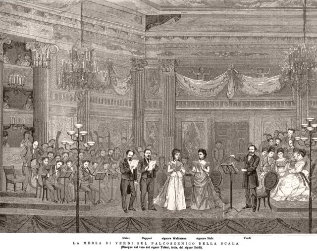 Estreno del Requiem de Verdi en La Scala