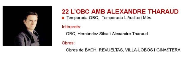 La OBC con Alexandre Tharaud en L'Auditori