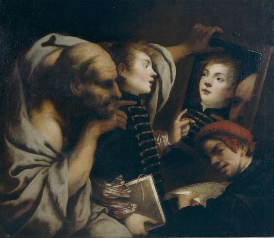 Sócrates y dos estudiantes (Pietro della Vecchia)