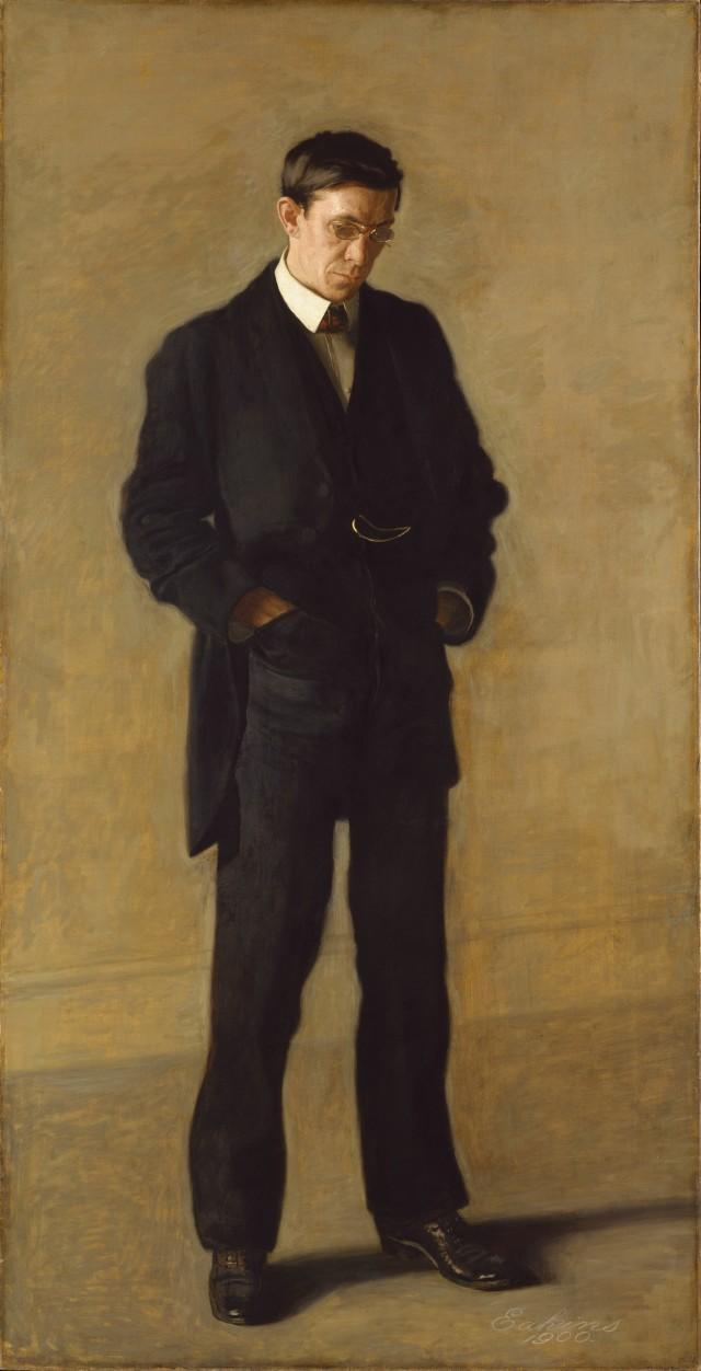 The Thinker - Retrato de L.N.Kenton (Thomas Eakins)