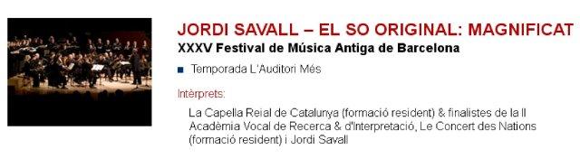 Jordi Savall en L'Auditori - El so original Magnificat