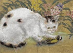 Chat et oiseau (Pissarro)