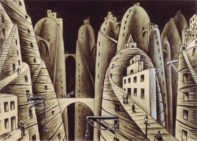 Ciudad y abismos (Xul Solar)