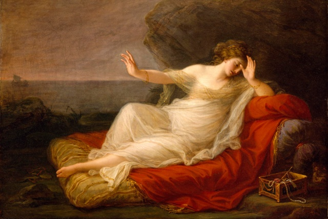 Ariadna abandonada por Teseo (Angelica Kauffmann)