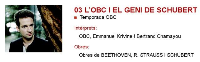 La OBC y el genio de Schubert en L'Auditori