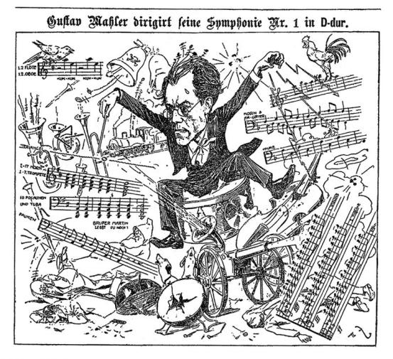Mahler Caricatura . Sinfonia 1