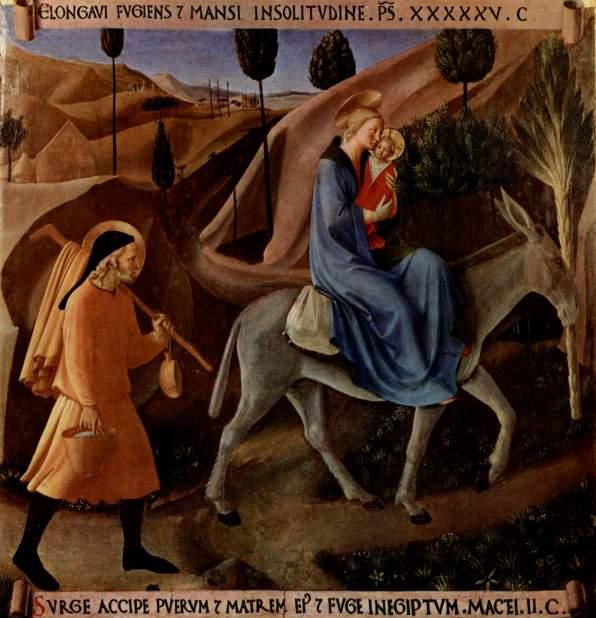 - 1450 Huida a Egipto (Fra Angelico) (1450)