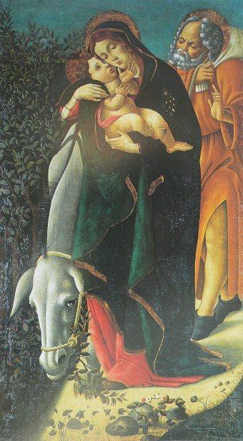 - 1470 La huida a Egipto (Sandro Botticelli) (S XV)