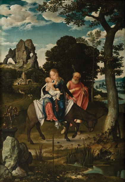 - 1520 La huida a Egipto (Joos van Cleve) (c. 1520)