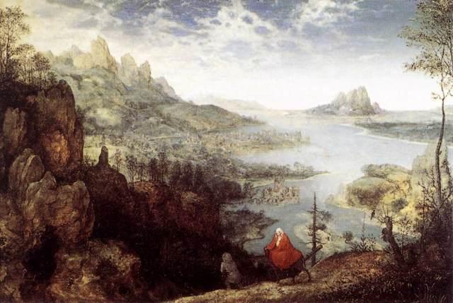 - 1563 Paisaje con La huida a Egipto (Pieter Bruegel el Viejo) (1563)