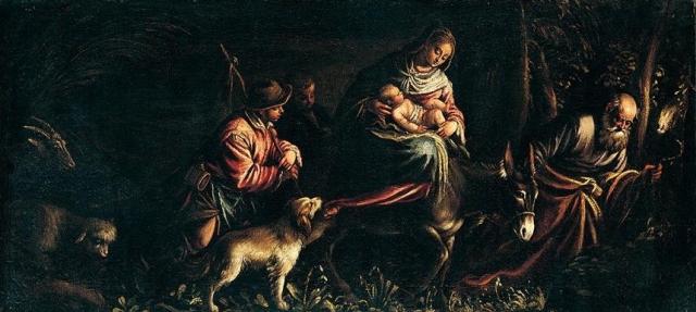 - 1575 La huida a Egipto (Francesco Bassano, El joven)