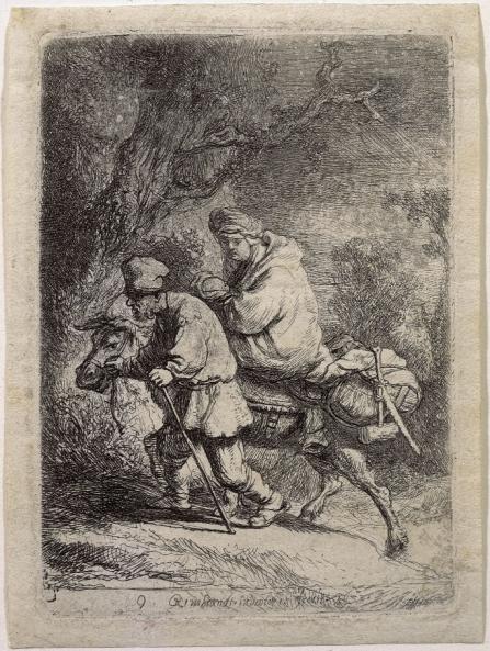 - 1630 La huida a Egipto (Rembrandt van Rijn) (1630)