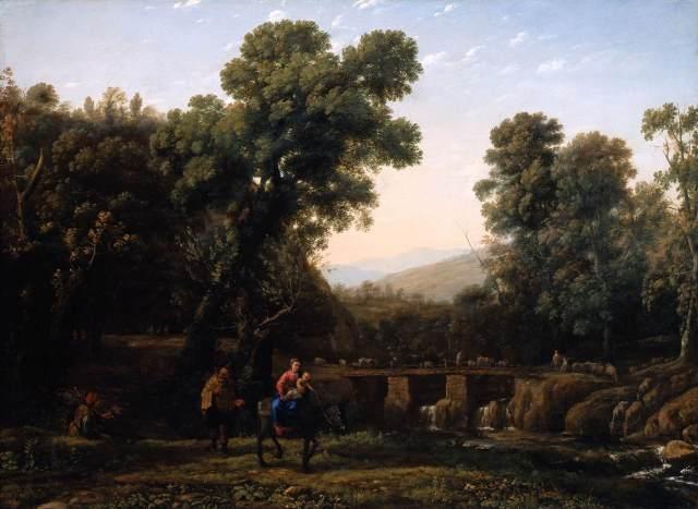 - 1635 La huida a Egipto (Claude Lorrain) (c. 1635)