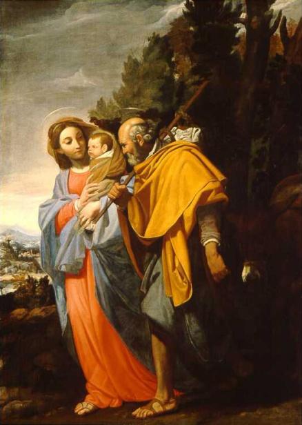 - 1650 Huida a Egipto (Domenico Fiasella) (1650)