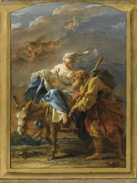 - 1759 Huida a Egipto  (estudio) (Noel Hallé) (1759)