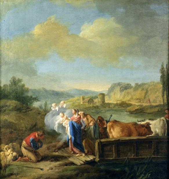 1760 La huida a Egipto (Jean-Baptiste Marie Pierre) (c.1760)
