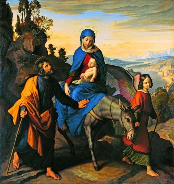 La huida a Egipto (Julius Schnorr von Carolsfeld) (1828)