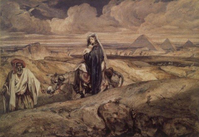 - 1860 La huida a Egipto (Alexandre-Gabriel Decamps) (c. 1860)