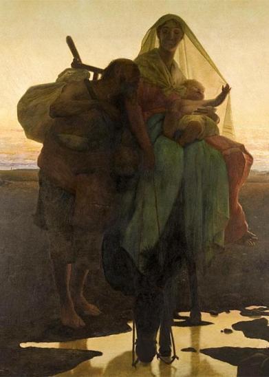 - 1881 Huida a Egipto (José Ferraz de Almeida Júnior) (1881)