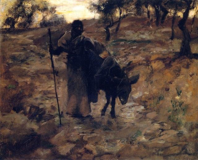 - 1888 La huida a Egipto (John Singer Sargent) (1877-1879)