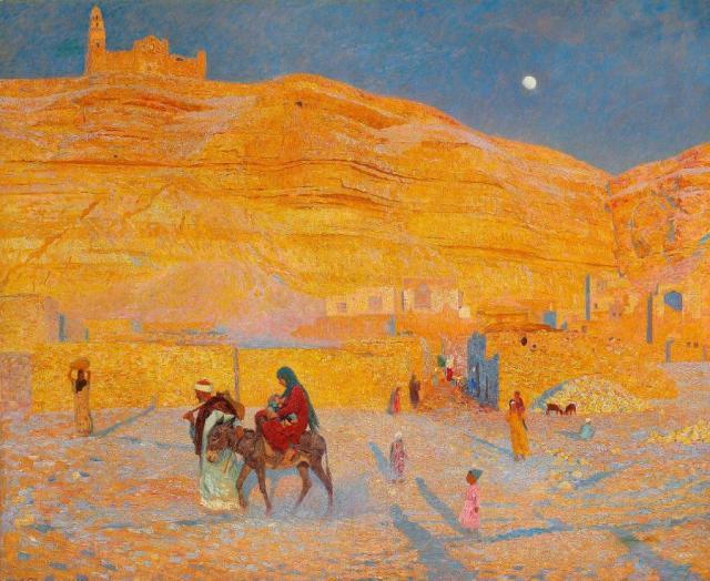 - 1889 La huida a Egipto (Laurits Tuxen) (1889)