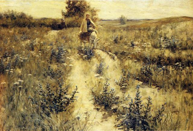 - 1892 La huida a Egipto (George Hitchcock) (1892)