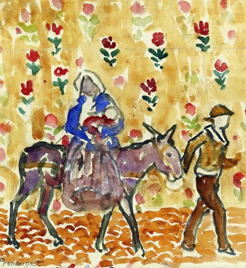 - 1913 Huida a Egipto (Maurice Prendergast) (c.1912-1915)