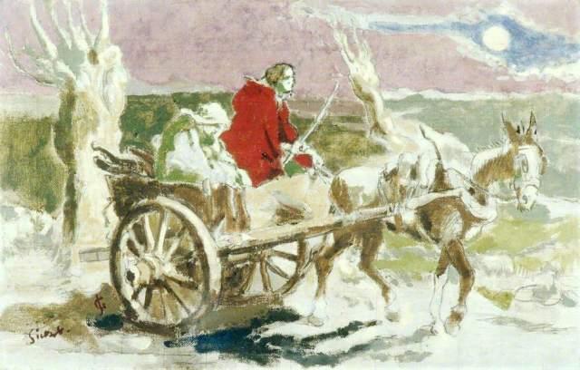 - 1930 La huida a Egipto (Walter Richard Sickert) (c. 1930)