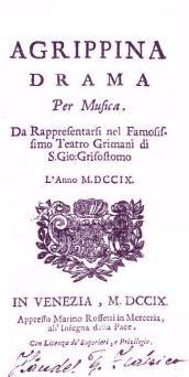 Frontispicio de Agrippina