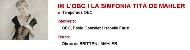 La OBC i la Sinfonía Titán de Mahler en L'Auditori