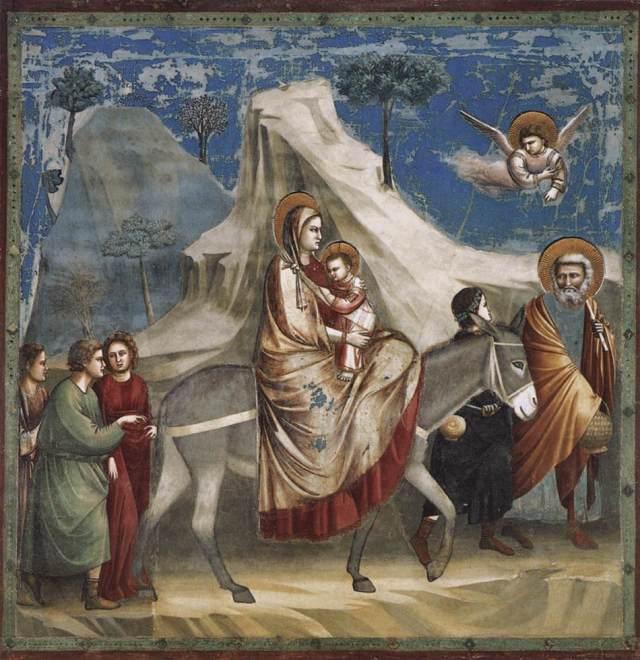 1305 Escenas de la Vida de Cristo - 4- La Huida a Egipto (Giotto di Bondone) (1304-1306)