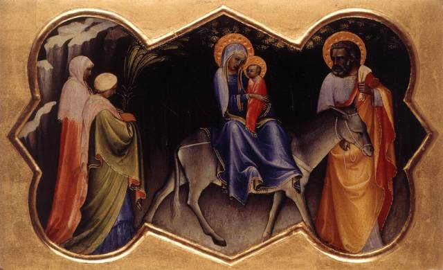 1408 La huida a Egipto (Lorenzo Monaco) (1405-1410)