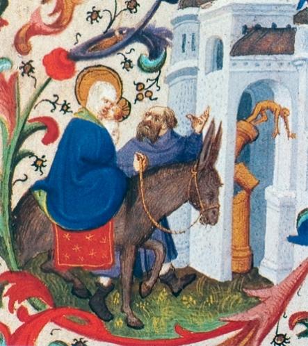 1420 Caida de los ídolos paganos (Maestro de Bedford) (S XV)
