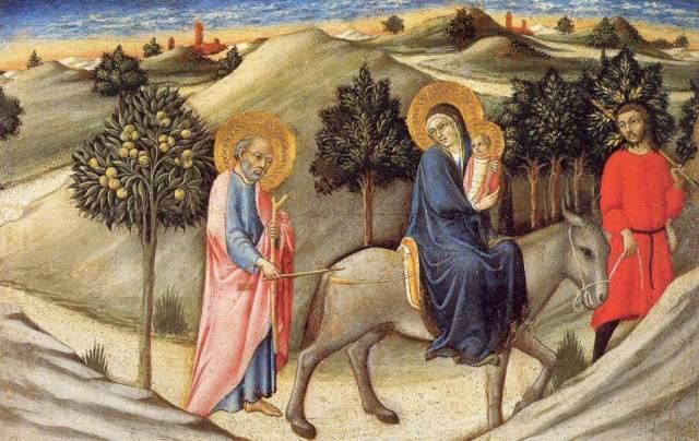 - 1445 Huida a Egipto (Sano di Pietro) (c.1445)