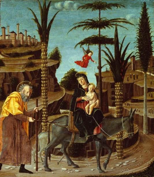 1485 La huida a Egipto (Bernardino Jacopi Butinone) (c. 1485)
