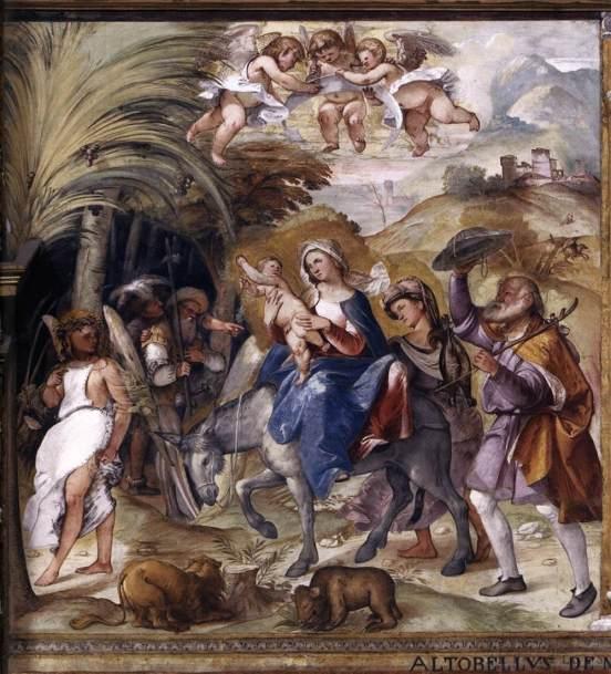 Huida a Egipto (Altobello Melone) (1517)