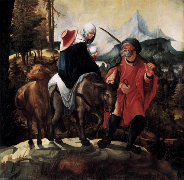 1527 La huida a Egipto (Wolf Huber) (1525-1530)