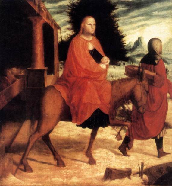 La huida a Egipto (Monogramista A.B.) (c. 1530)