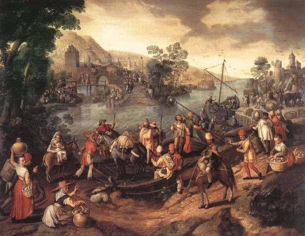 1560 La huida a Egipto (Joachim Beuckelaer) (S XVI)