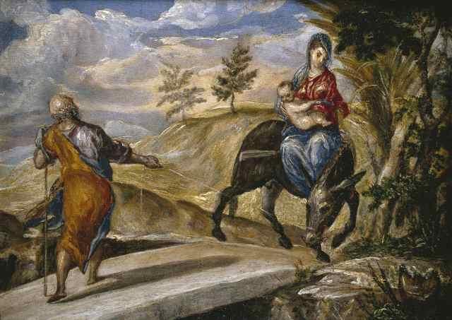 - 1570 La huida a Egipto (El Greco) (c. 1570)