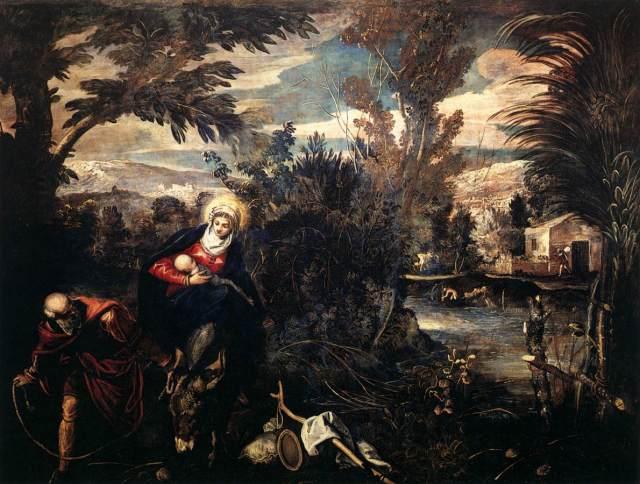 1584 La huida a Egipto (Tintoretto) (1582-1587)