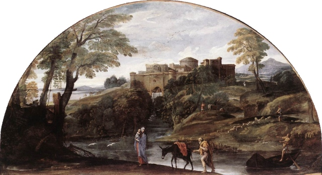 - 1603  La huida a Egipto (Annibale Carracci) (1603)