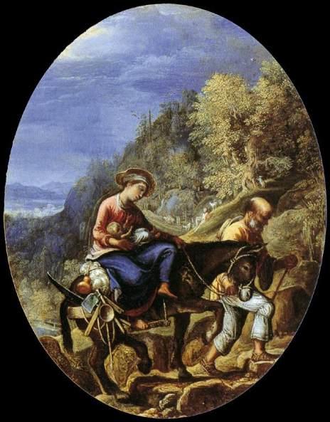 1605 La huida a Egipto (Adam Elsheimer) (c. 1605)