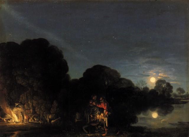 Huida a Egipto (Adam Elsheimer) (1609)